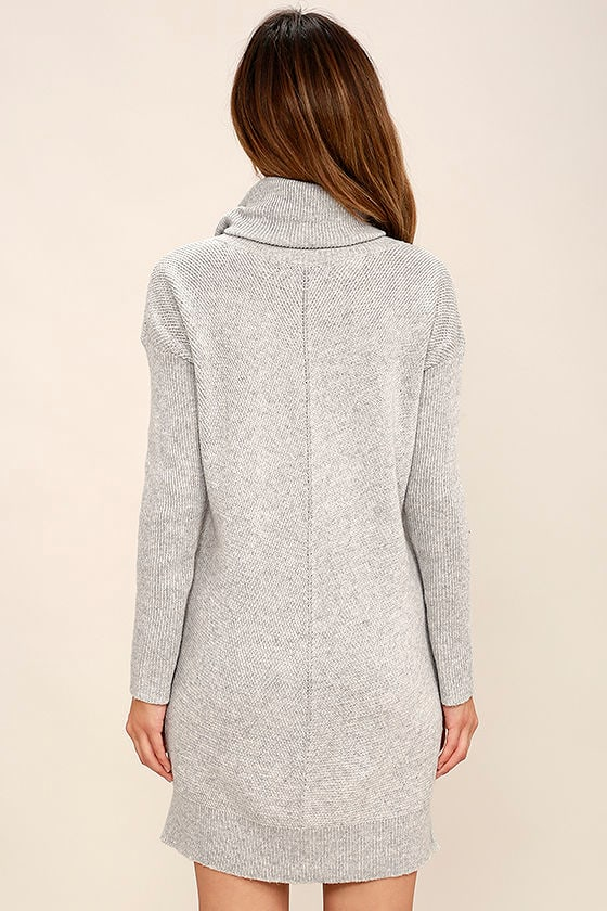 Tea Reader Light Grey Sweater Dress 4