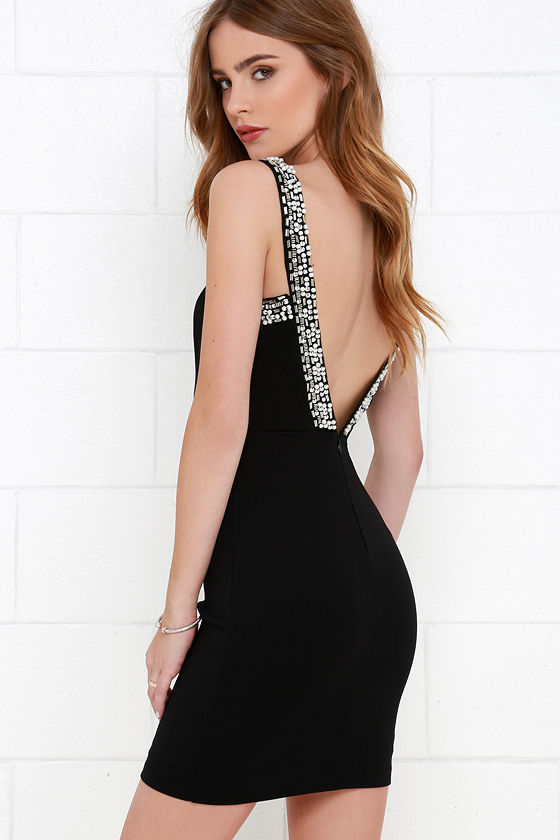 Downpour of Decadence Black Beaded Dress