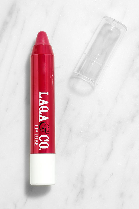LAQA & Co. Golly Gee Whiz Sheer Red Lip Lube Pencil 1