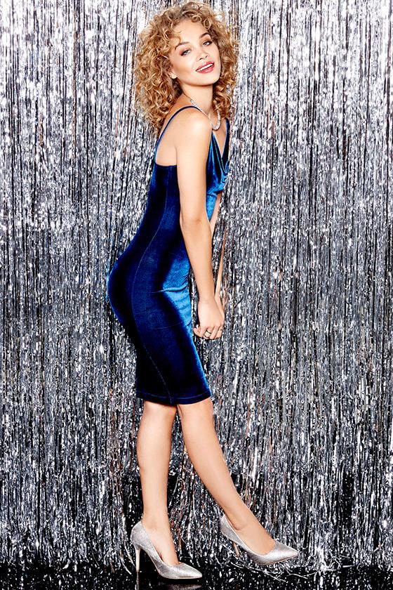 Jazzy Belle Blue Velvet Dress 1