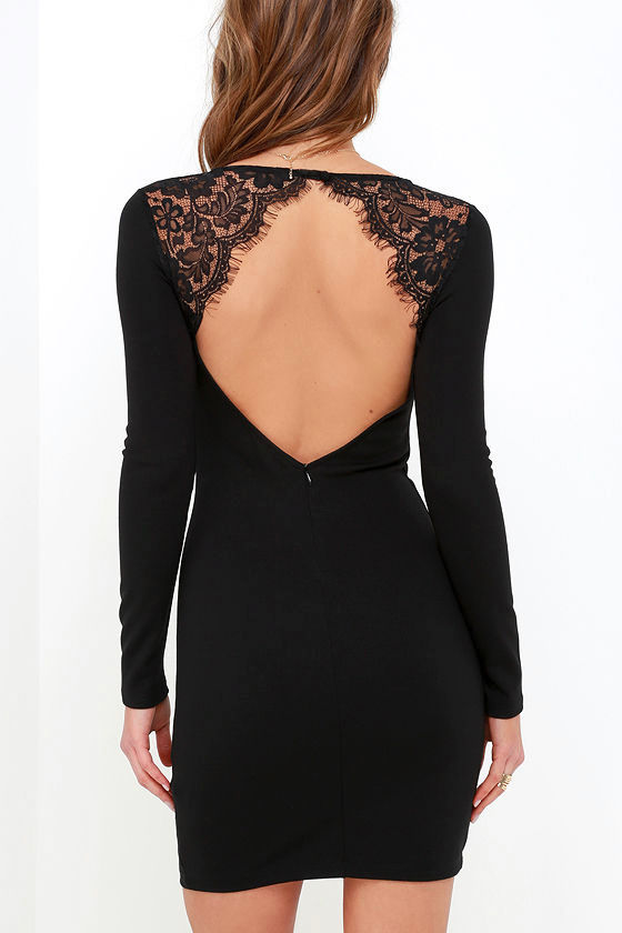Tallest Tower Black Lace Bodycon Dress 4
