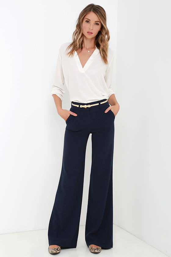 Thea Navy and White Stripe Wide Leg Pants. PROMO 50% OFF: $84 $ Quick View. Beach Riot Celeste Blue Printed Pants. $ Quick View. Renegade White Striped Wide Leg Pants. PROMO 50% OFF: $64 $ Quick View. Lost + Wander Kiara Multi Stripe Pants. $ $ Quick View. Atta Girl Beige Multi Plaid Paperbag Waist Pants.