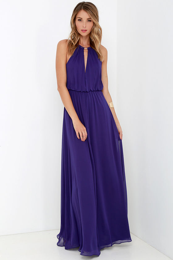 Lovely Purple Dress - Maxi Dress - Necklace Dress - $75.00