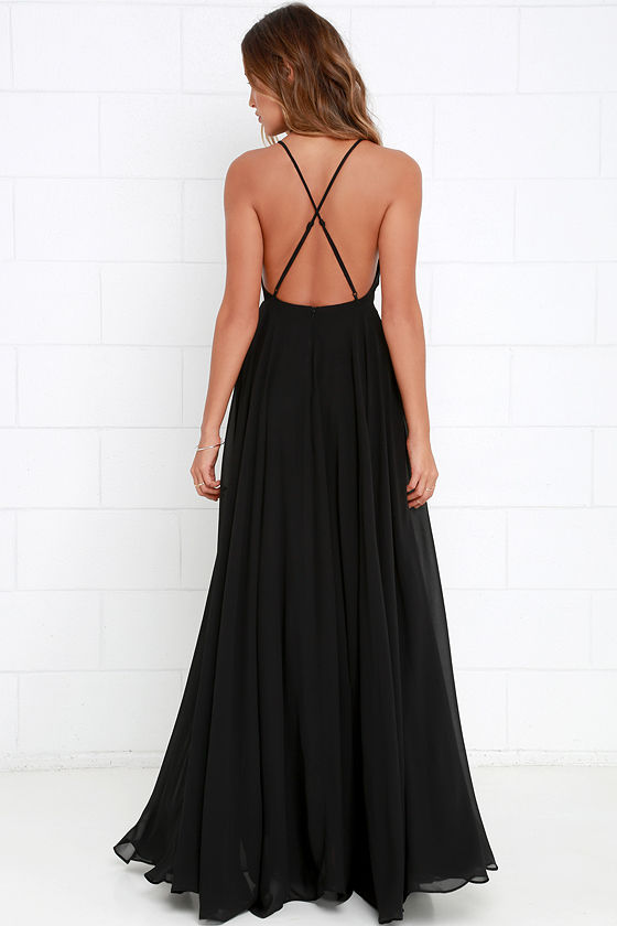 Mythical Kind of Love Black Maxi Dress 4