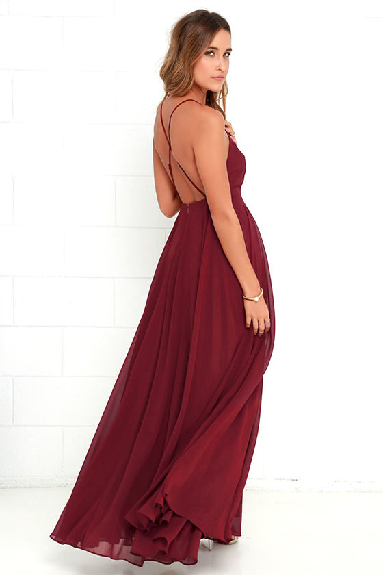 Mythical Kind of Love Wine Red Maxi Dress 4
