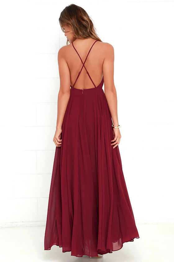 Mythical Kind of Love Wine Red Maxi Dress 5