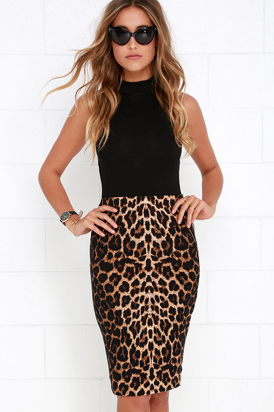 b153eb0cc Chic Leopard Print Skirt - Bodycon Skirt - Pencil Skirt - $27.00