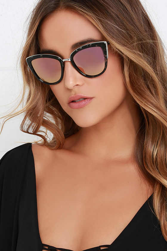 c8f055790e Quay My Girl - Tortoise and Pink Sunglasses - Cat-Eye Sunglasses -  50.00