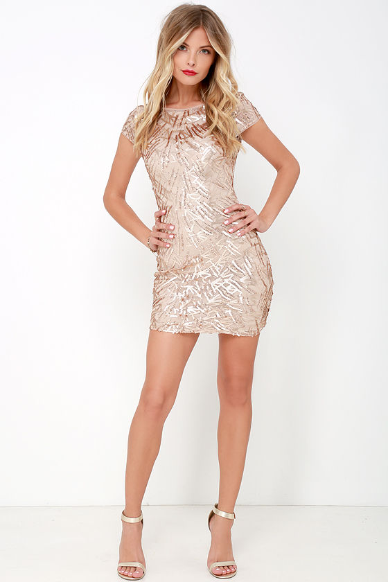 ee035eaa4bed Sexy Gold Dress - Gold Sequin Dress - Bodycon Dress - Backless Dress ...