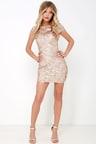 Sexy Gold Dress - Gold Sequin Dress - Bodycon Dress - Backless Dress ... d8a9a1bb1
