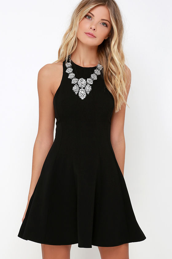 2acd356c17f03 Cute Black Dress - Fit-and-Flare Dress - Sleeveless Dress -  55.00