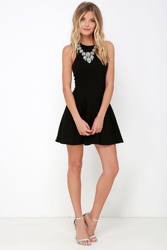 f70b0a5d0cfe9 Cute Black Dress - Fit-and-Flare Dress - Sleeveless Dress - $55.00