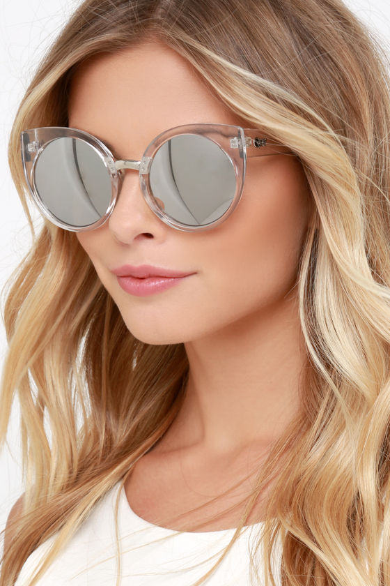 Quay China Doll Sunglasses - Clear Sunglasses - Cat-Eye