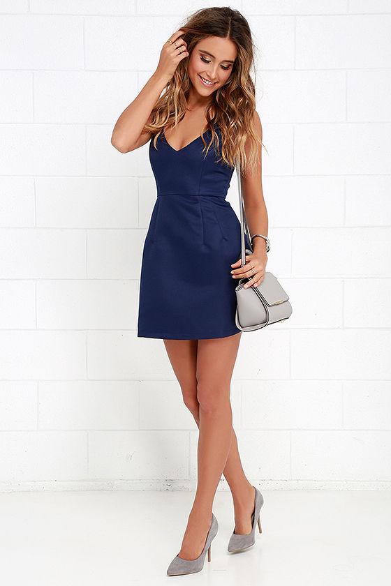 94c8df5035e Sexy Navy Blue Dress - Sleeveless Dress - Mini Dress - $54.00