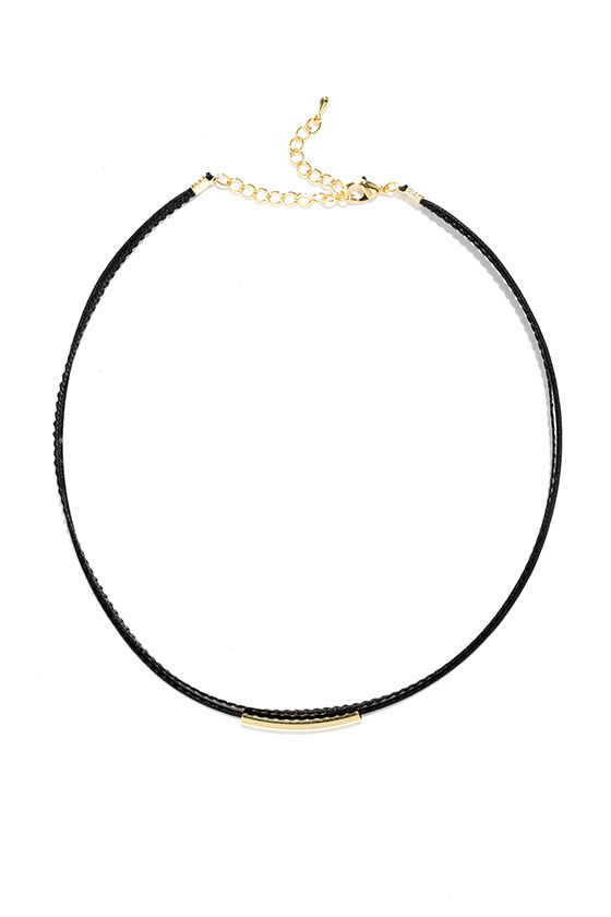 Wicked Cute Black and Gold Choker Necklace 3