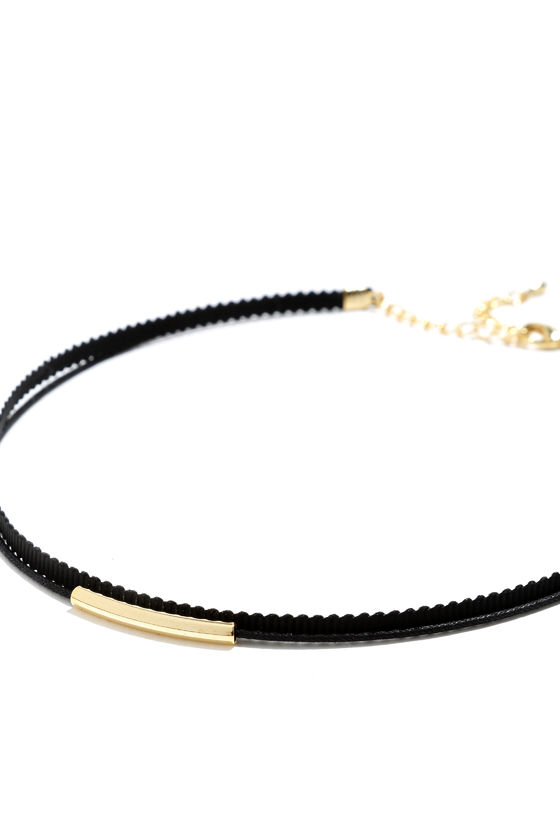 Wicked Cute Black and Gold Choker Necklace 4