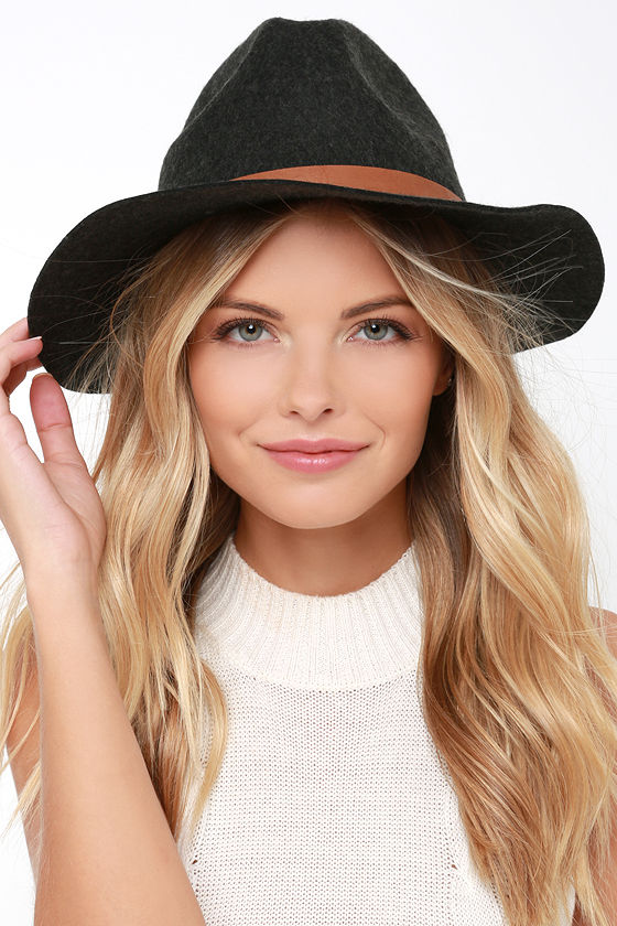 bf479ab5f485d Billabong Better Over Here Hat - Charcoal Hat - Wool Hat - Fedora Hat -   35.95