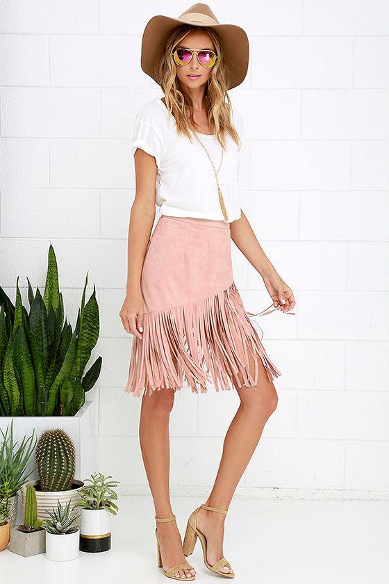 Blush Fringe Dress