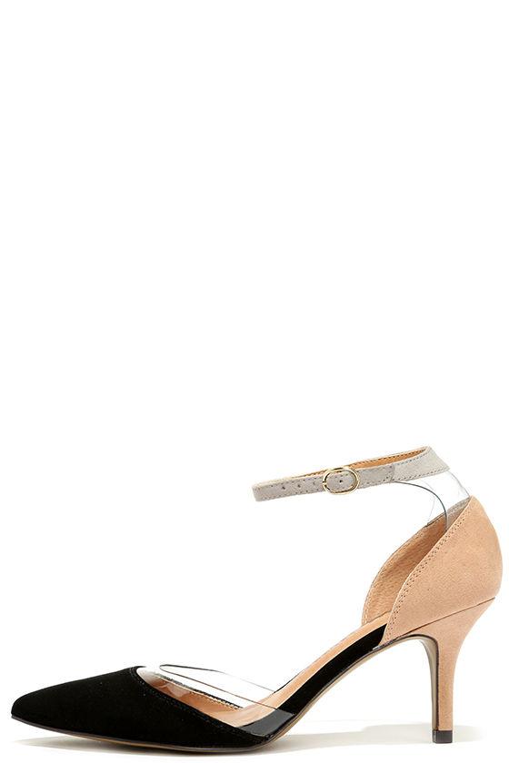 93347161d13 Cute Black Heels - Lucite Heels - Kitten Heels -  69.00