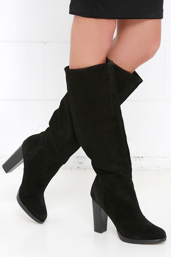 black boots suede boots knee high boots 139 00
