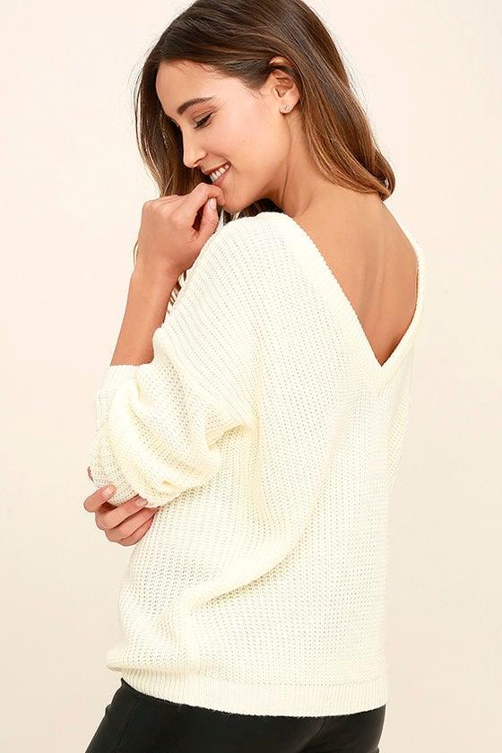 Island Ferry Cream Sweater 1