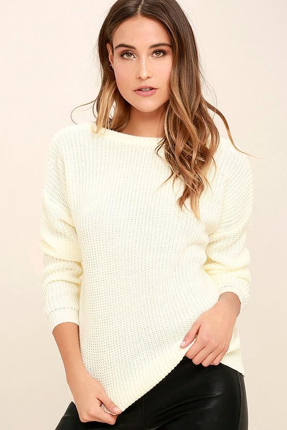 Island Ferry Cream Sweater 3