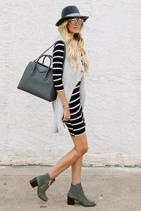 Heir Lines Black Striped Dress 7