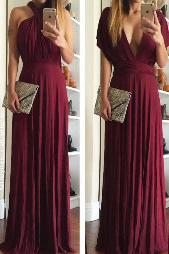 Awesome Burgundy Dress Maxi Dress Wrap Dress 68 00