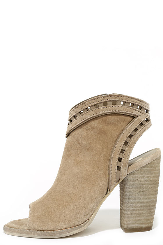 d9bca287fffd Cute Ankle Booties - Suede Booties - Taupe Booties -  170.00