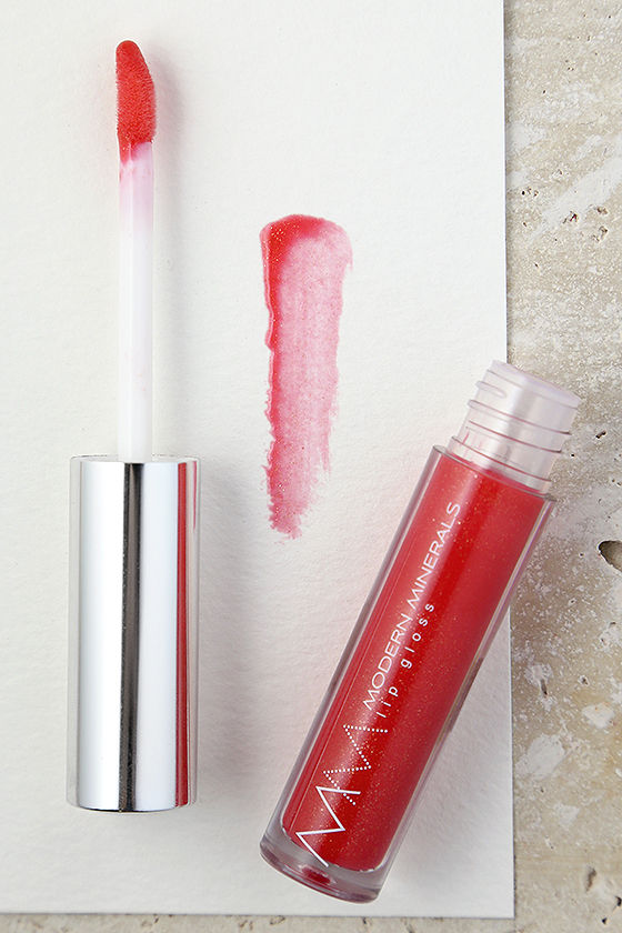 Modern Minerals Coral Glow Emotive Coral Pink Lip Gloss 1