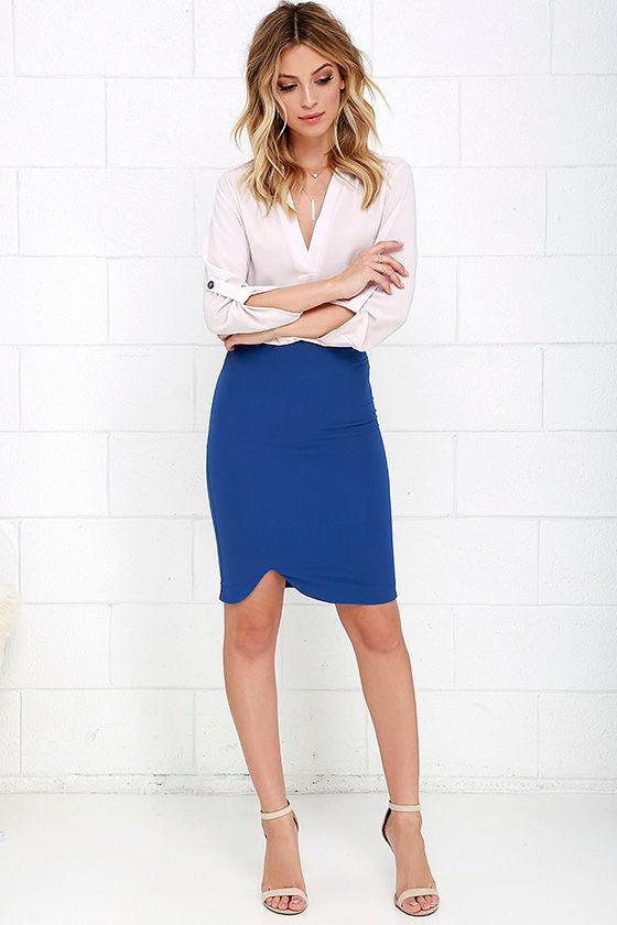 0fd4b1f59b8 Chic Royal Blue Skirt - Bodycon Skirt - Pencil Skirt - $34.00