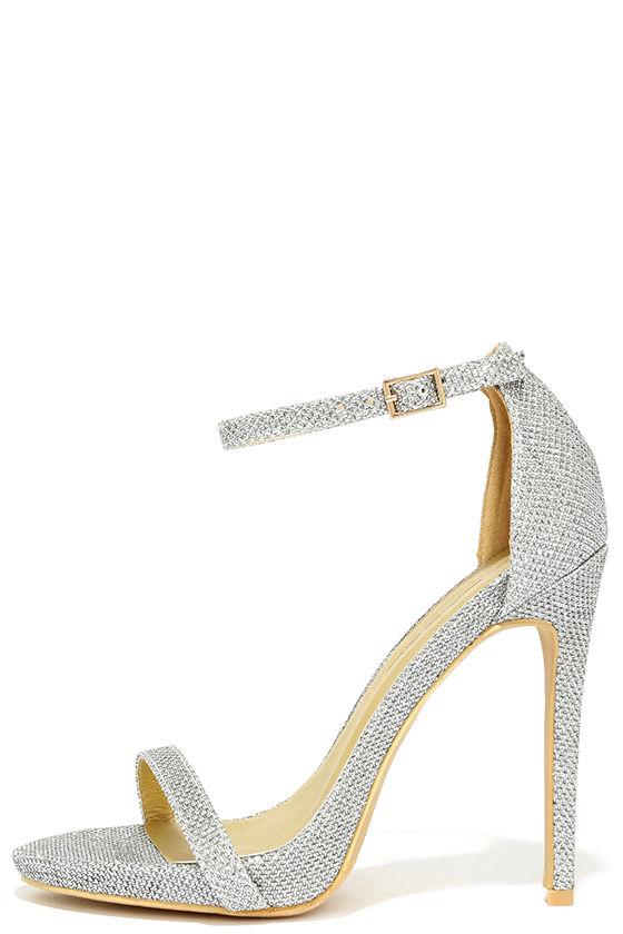 pretty silver heels ankle strap heels dress sandals