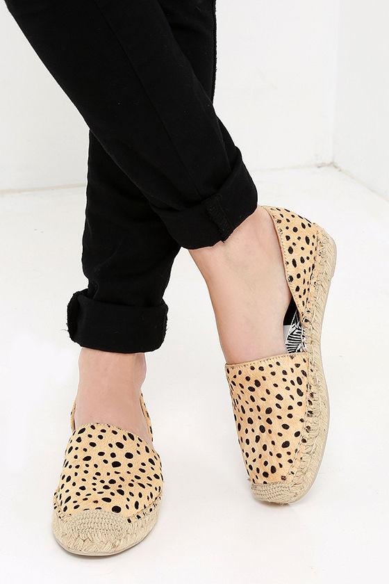 e2cd6e1be3fd Cute Leopard Flats - Pony Fur Flats - Espadrille Flats - $130.00