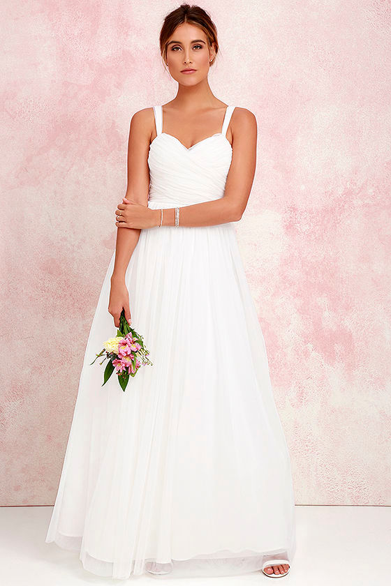 2688b22f9 Pretty Ivory Gown - Tulle Gown - Bridal Gown - Maxi Dress -  82.00