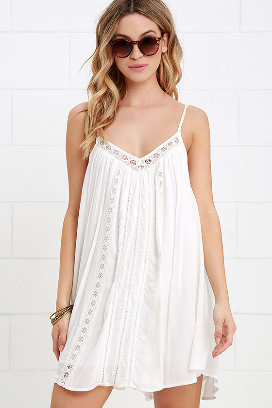 Casual Ivory Dress