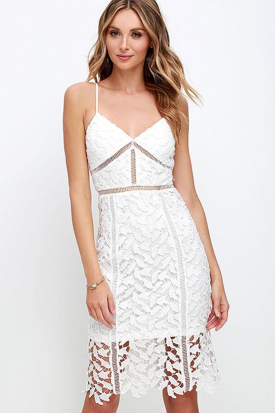 0c304f7a308b Sexy Ivory Dress - Lace Dress - Midi Dress