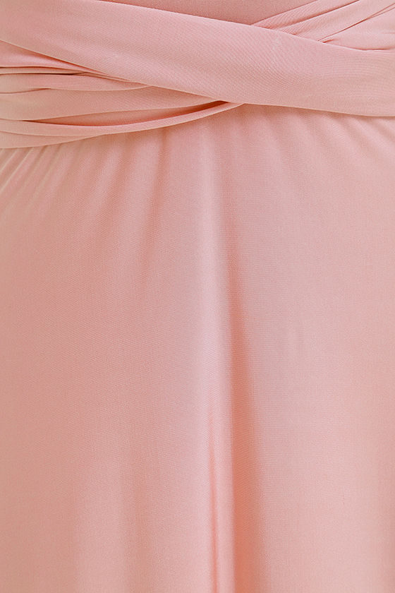 Always Stunning Convertible Blush Pink Maxi Dress 8