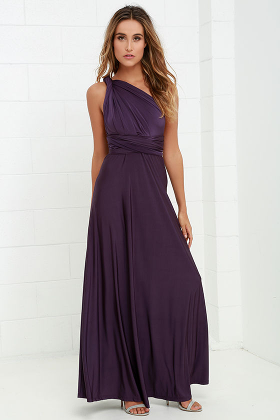 Pretty Maxi Dress - Convertible Dress - Purple Dress - Infinity ...