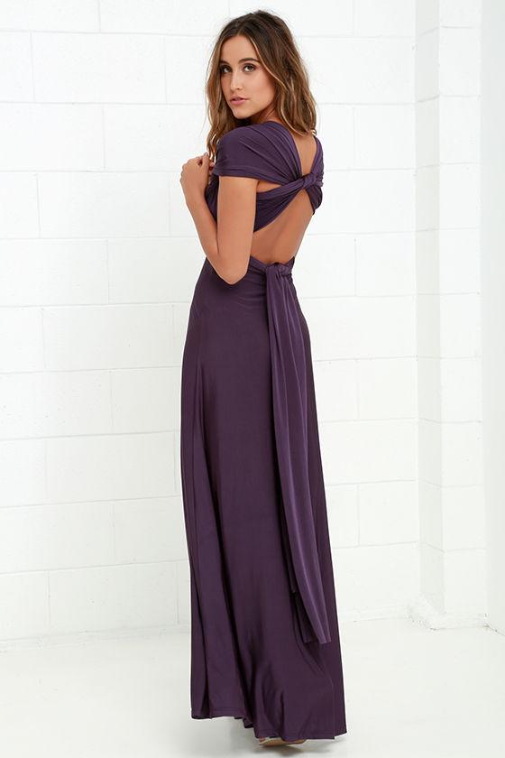 Pretty Maxi Dress - Convertible Dress - Purple Dress - Infinity ...