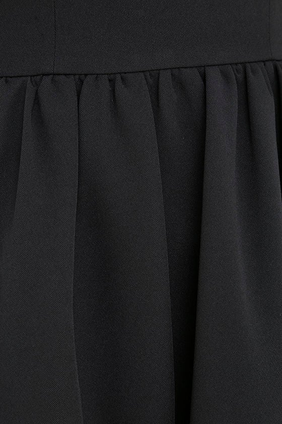 Chic Black Dress Backless Dress Skater Dress 56 00