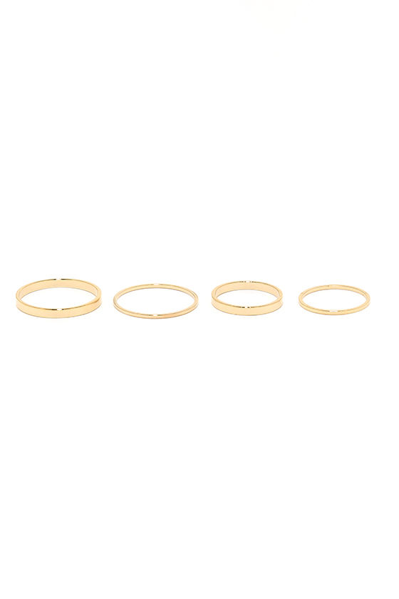 These Reveries Gold Ring Set 3