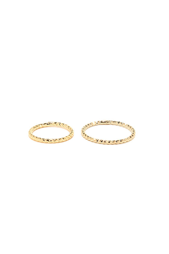 These Reveries Gold Ring Set 4