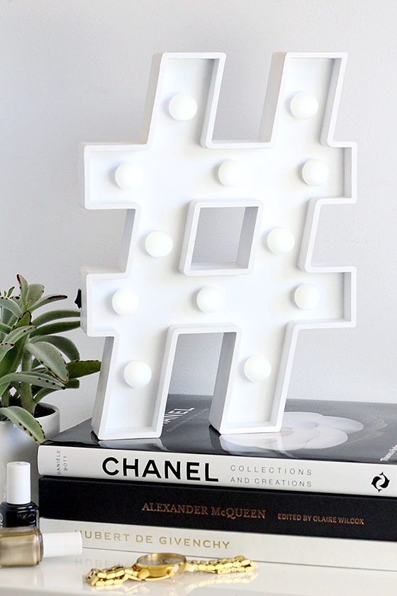 Hashtag marquee light hashtag light home decor for Decor hashtags