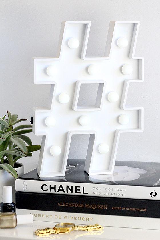 Hashtag marquee light hashtag light home decor for Decor hashtags
