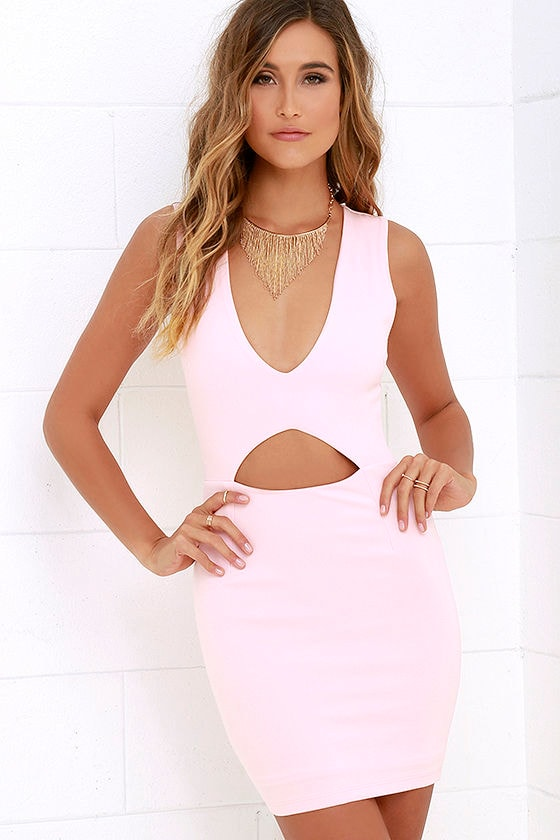 Light Pink Dress - Bodycon Dress - Sleeveless Dress - $48.00