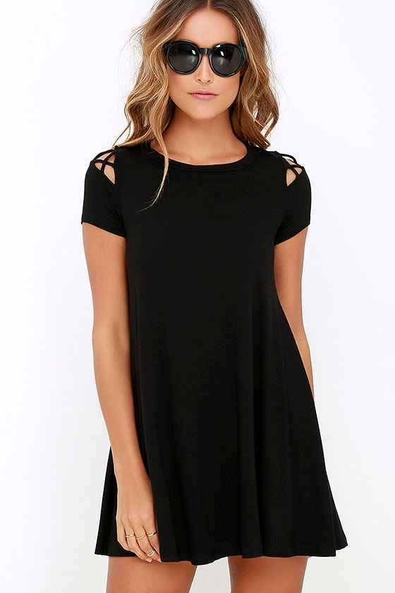 Take Effect Black Swing Dress 1