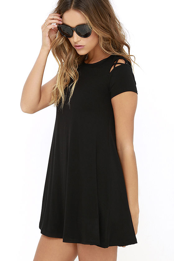 Take Effect Black Swing Dress 3