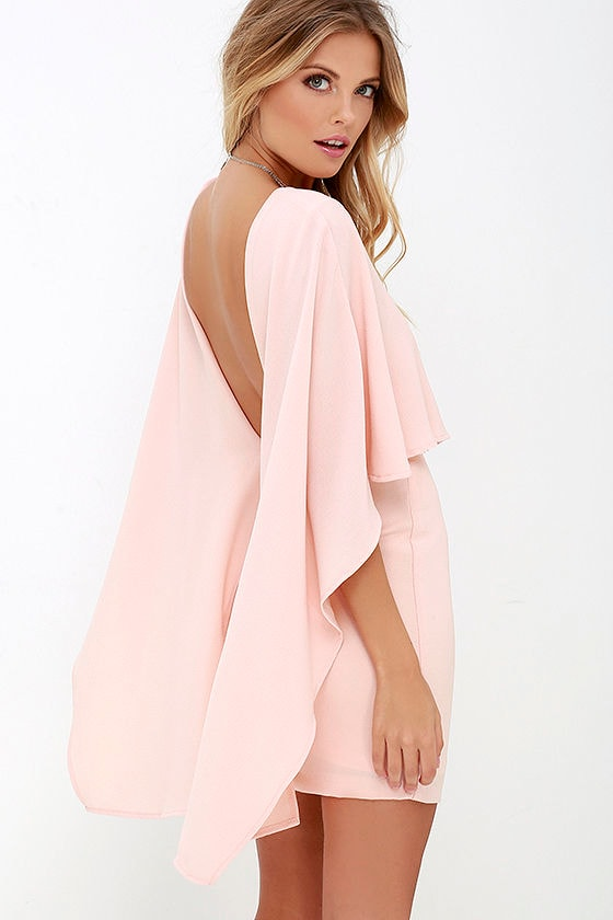 Best is Yet to Come Peach Backless Dress 2