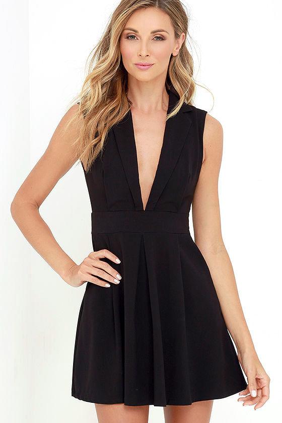 Chic Black Dress - LBD - Sleeveless Dress - Pleated Dress - $59.00