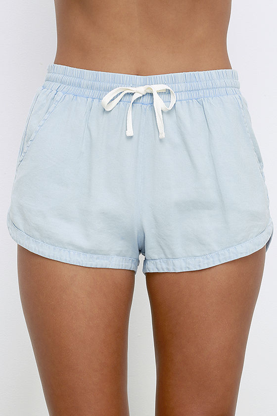 Billabong Road Trippin Shorts - Light Blue Shorts - Drawstring ...